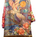 Hand painted silk kimono