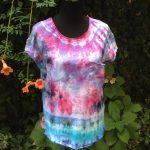 Ice-dyed t-shirt