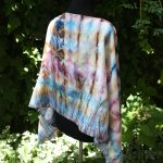Flowers of the field. Hand painted silk scarf.