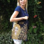 Hand painted shopper