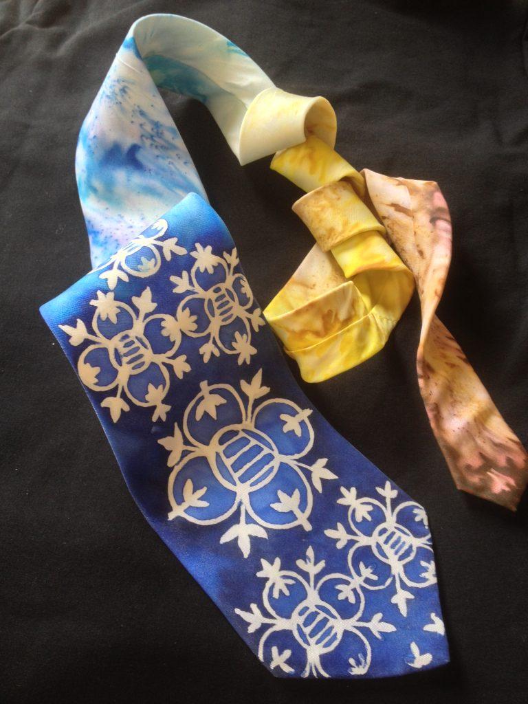 Verona. Hand painted men's silk necktie.
