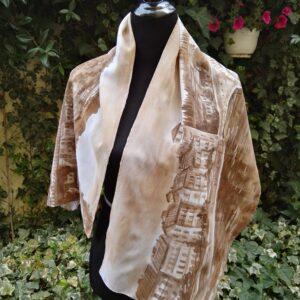 Ponte Pietra Verona. Hand painted 100% silk scarf