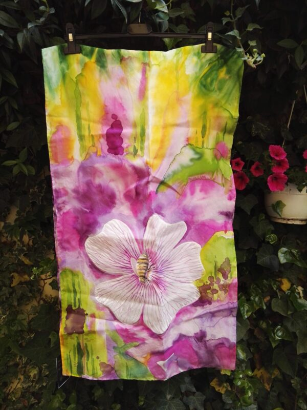 Spring. Hand painted silk scarf