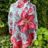 Amarylis. Wet felted merino wool and rarefied silk scarf/stole. Original accessory
