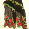 The night roses. Wetfelted silk scarf with merino wool, viscose fibers. Original accessory to combine an elegant outfit. Best gift for women