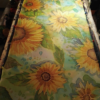 Sunflowers. Long handpainted 100% silk scarf. Best gift for women. Floral fantasy. Vibrant colors