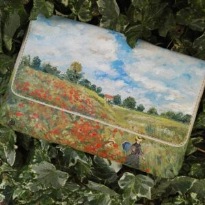 Red poppies hand painted bag