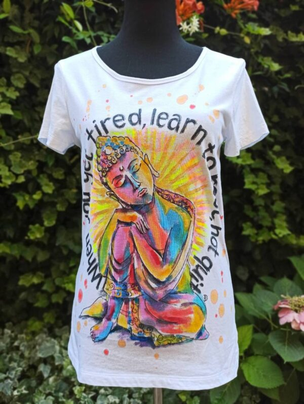 Resting Buddah 100% cotton hand painted t-shirt. Original author's painting.